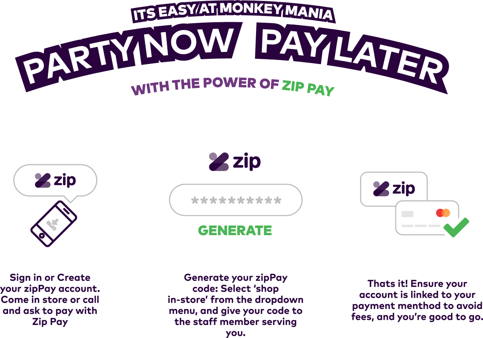 Party Now & Pay Later with ZipPay